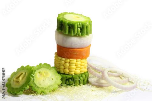 Fotografía  mixed vegetables & Cheerful  vegetable
