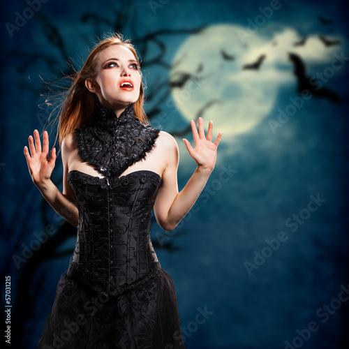 Fotobehang Volle maan Vampir