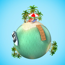 Tropical Travel Vacation 3d Planet