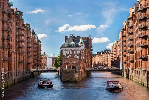 Leinwand Poster Hamburg Wahrzeichen Wasserschloss