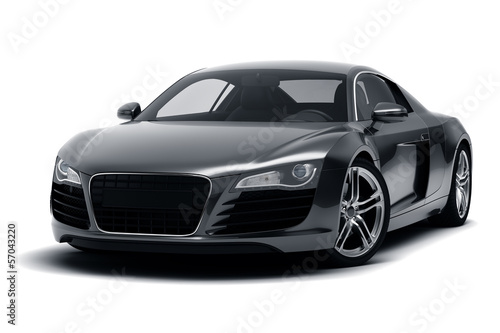 Foto op Aluminium Cartoon cars Black Sports Car