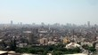 wide pan shot for old cairo with mosques sounds