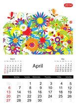 Floral Calendar 2014, April