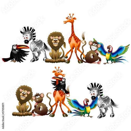 dzikie-zwierzeta-cartoon-wild-animals-cartoon-vector