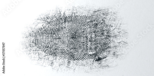 Leinwand Poster Dusted Crime Scene Fingerprint