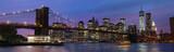 Fototapeta Nowy York - Brooklyn Bridge and Manhattan at sunset