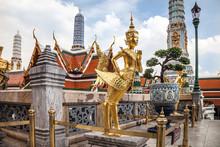 Golden Kinnara Statue At The T...