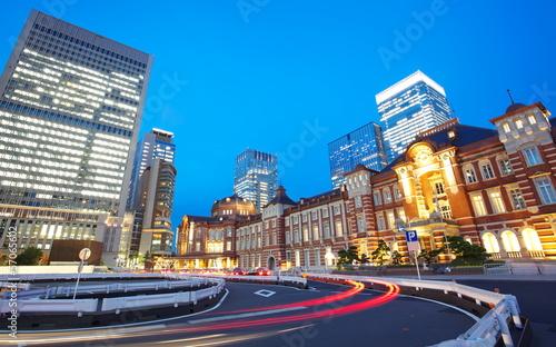 Foto auf AluDibond Bahnhof New Tokyo Station Renovated 2013