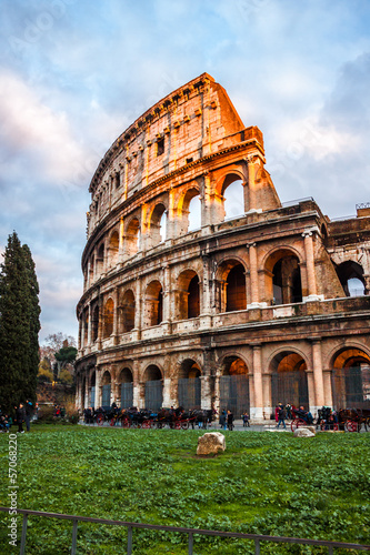The Iconic, the legendary Coliseum of Rome, Italy Canvas Print