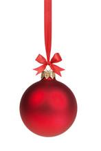 Red Christmas Ball Hanging On ...