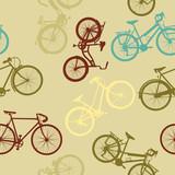 Rocznika stylu roweru bezszwowy wzór - 57075611