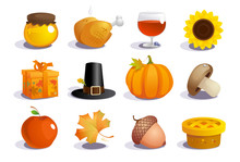 Thanksgiving Day Symbols Colle...