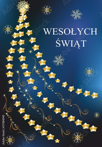 Fototapeta bożonarodzeniowa dekoracja z choinką obraz