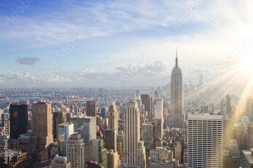 Foto op Aluminium New York urban skyline