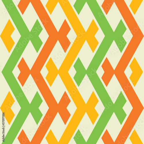 Deurstickers ZigZag colorful seamless pattern