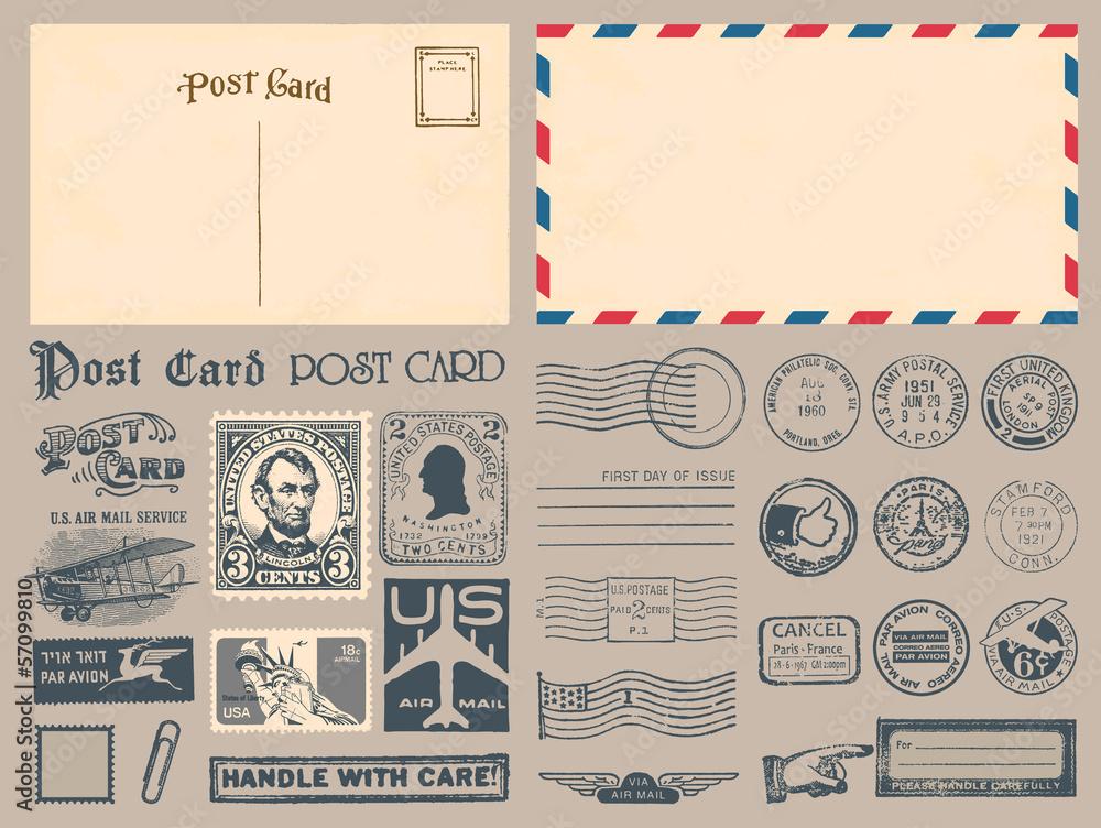 Fototapeta Postage Stamps