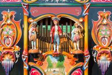 Colorful Barrel Organ Or Stree...