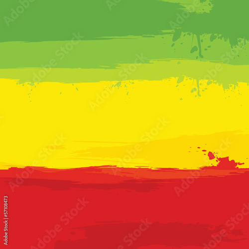 grunge background with flag of Ethiopia Wallpaper Mural