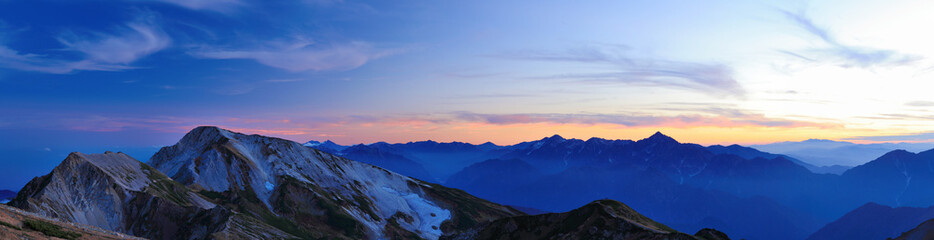 Panel Szklany白馬岳からの眺め