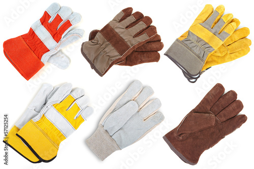 Leather gloves. The assortment Tableau sur Toile