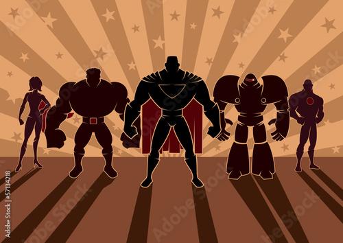 Fotografie, Tablou  Superhero Team