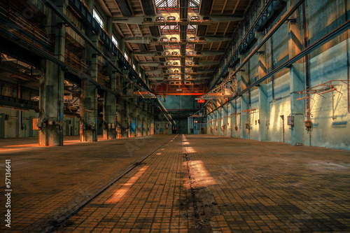 Foto op Canvas Vintage Poster Dark industrial interior