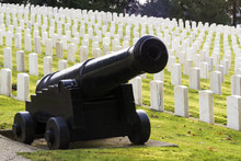 Large Military Cannon Stands Graveyard  Cemetery Headstones