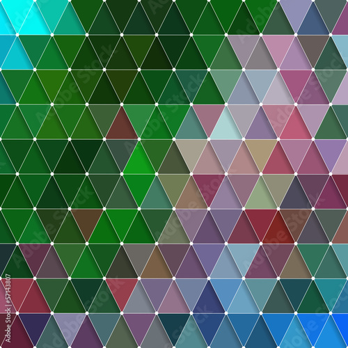 Foto op Canvas ZigZag Triangles Background