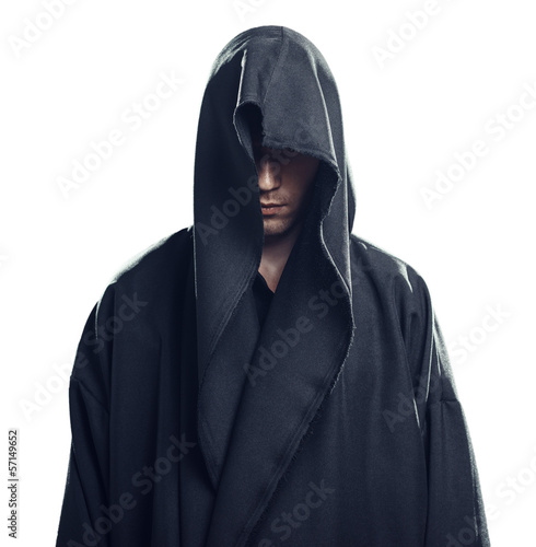 Fotografering Portrait of man in a black robe