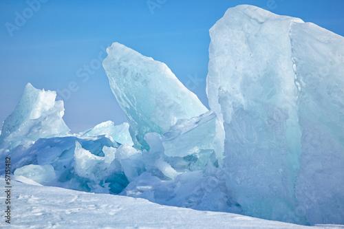 Foto op Plexiglas Arctica Winter lake Baikal