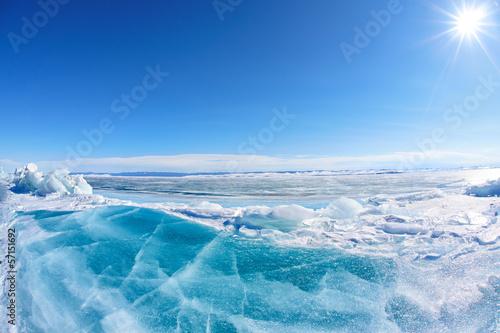 Foto op Plexiglas Arctica Winter Baikal lake