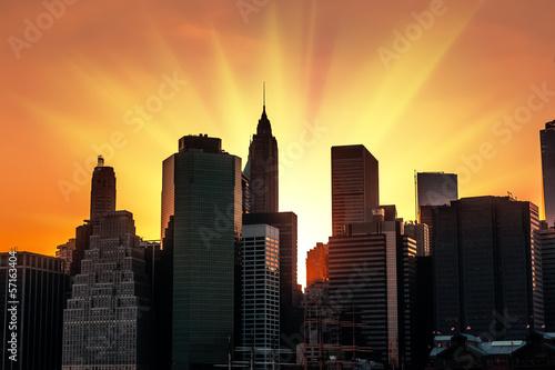Fotomural  Sunset in New York City