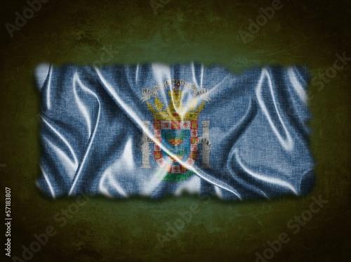 Vintage Melilla flag.