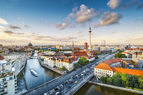 Berlin, Germany Afternoon Cityscape Canvas Print