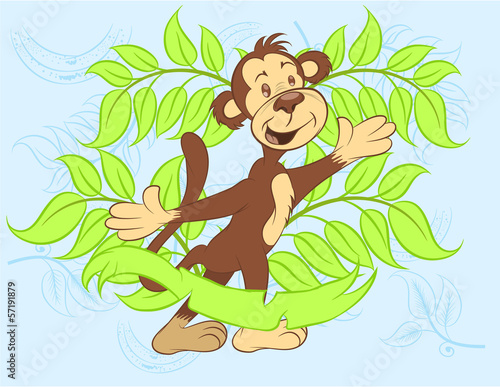 Fotografie, Obraz  Illustration vector of cute monkey