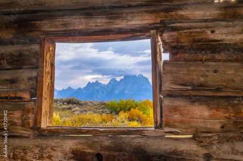 Fotografie, Tablou Cunningham Cabin Grand Teton National Park