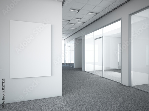 Foto op Plexiglas Wand office interior with white frame