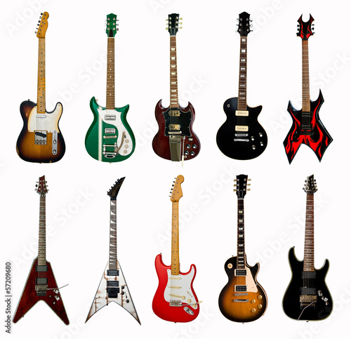 Obraz na plátne collection of electric guitars