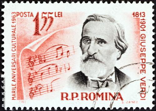 Poster  Composer Giuseppe Verdi (Romania 1963)