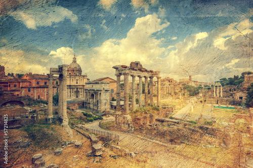 Tela Foro Romano. Rome. Italy.