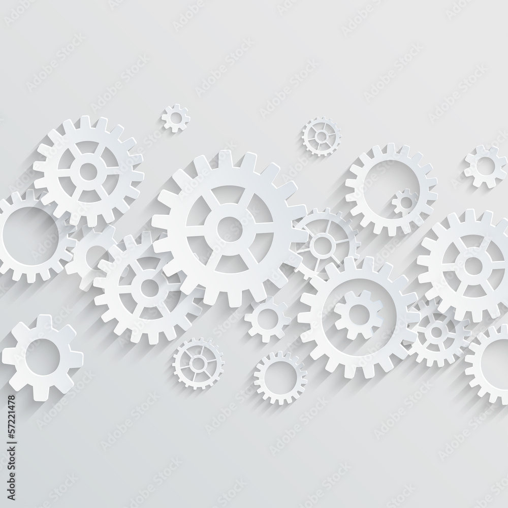 Fototapeta Vector gears and cogs background