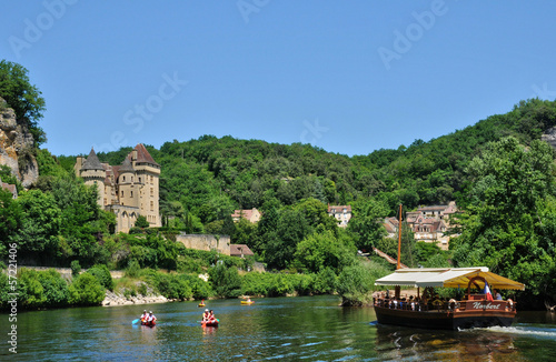 France, the picturesque village of La Roque Gageac in Dordogne Canvas Print