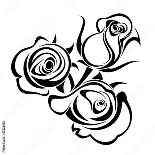 paki-rozy-sylwetka-wektor-czarny
