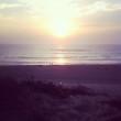 canvas print picture - sonnenuntergang am strand