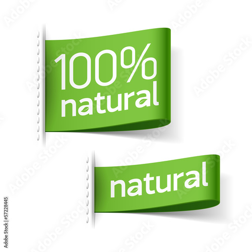 Fotografia  Natural product labels