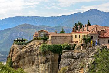 Fototapeta na wymiar Agios Stephanos Monastery at Meteora in Greece
