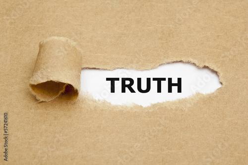 Photo Word Truth Torn Paper Concept