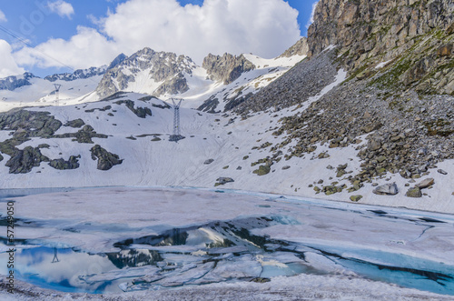 Printed kitchen splashbacks Glaciers Melting glaciers in the high Alps