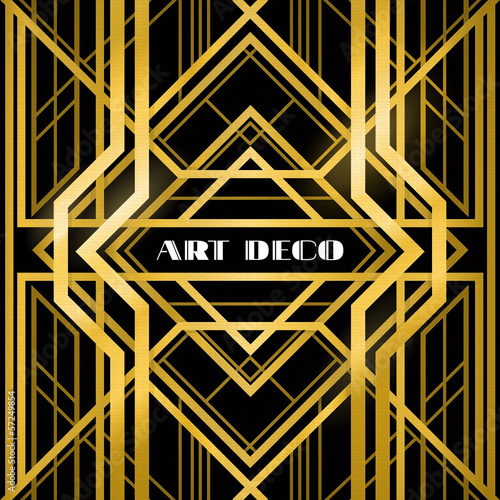 Photo  art deco grille
