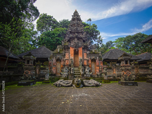 Tuinposter Bali Hindu Temple at the Monkey Forest Sanctuary in Ubud, Bali